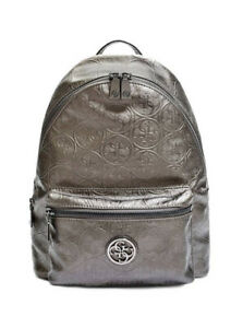 Be a BOSS in GUESS Logo Embossed Stylin' Backpack - Pewter - New