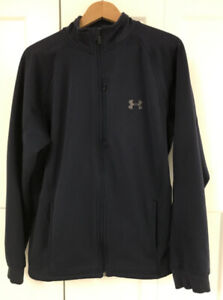 Great Condition- UNDER ARMOUR Spring/Fall Jacket (Dark Blue)