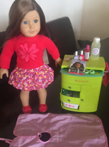 American Girl Doll And Beauty Cart