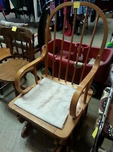 All wood rocker