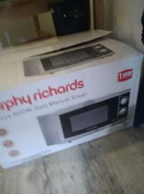 Morphy Richards 800 watt microwave