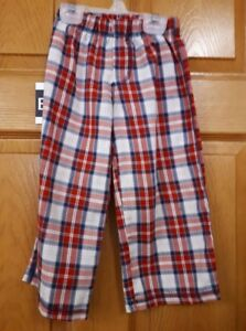 Red and Blue Plaid Carter's Pyjama Pants Size: 3