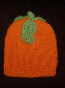 Freshly Knitted Pumpkin Hat 0-3M