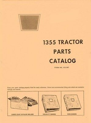 Oliver 1355 Tractor Parts Catalog Manual List