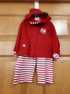 Red and White Reindeer 2 pc. Outfit Size: 6 Months