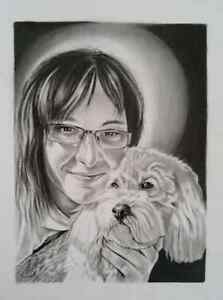 BEAUTIFUL HAND DRAWN PET (Animal) PORTRAITS