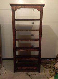 Rustic Barn Lumber Book Shelf.