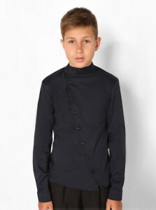 Shirt for a boy, 8-11 years, dark blue