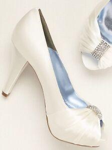 Bridal shoes- Size 8 Ivory