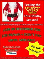 Woodstock Fitness & Racquet Club Christmas Promotion