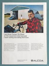 Original 1969 Alcoa Aluminum Roof Ad Endorsed By Mitchell