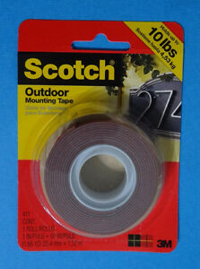 Double sided Scotch Mounting Tape, 10 lbs (Roll)