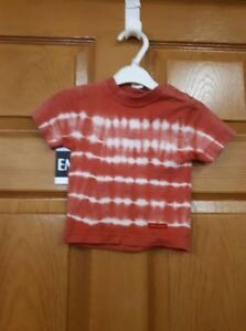Red and White BUM Tie Dye Shirt Size: 3 Months