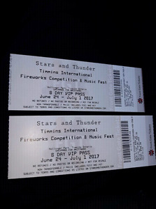 **SOLD**2 Stars & Thunder V.I.P Tickets in Timmins!!!