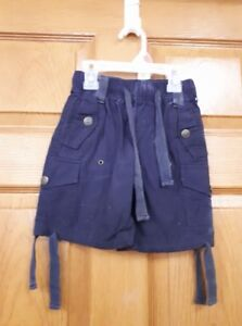 Boys Blue Cargo Woodland Shorts Size: 3