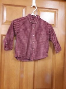 Boy's Red Check Shirt Size: 5