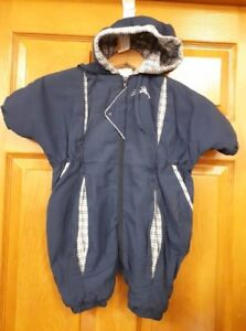 Boys Blue and White Snowsuit Size: 12 Months