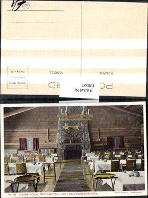 Old Faithful Inn, Yellowstone Park (198582,Wyoming Yellowstone Park Old Faithful Inn Dining Room Innenansicht)