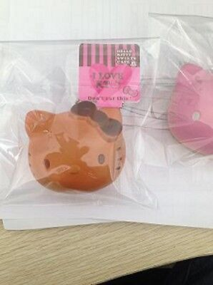 HELLO KITTY HEAD BREAD Squishy Charms phone with TAG GREAT GIFT
