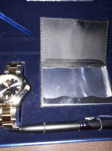 New Man Watch,Pen and Card Holder Set (batterie in watch)