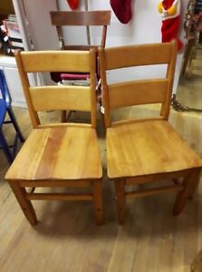 Set of 2 Wooden Ladder back Chairs