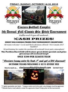 Ciociaro Softball - FALL TOURNAMENTS