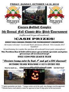 Ciociaro Softball - FALL TOURNAMENTS