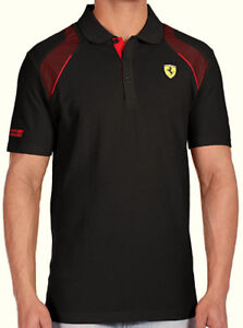 Puma Scuderia Ferrari Men Polo Shirt (Black/Large) - SALE