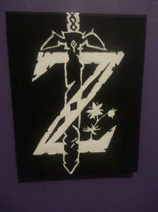 Zelda logo - acrylic painting on canvas