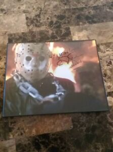 autograph  C.J Graham  friday the 13th   jason voorhees