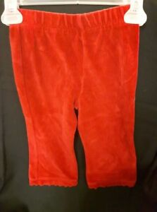 Red Ribbed Pants