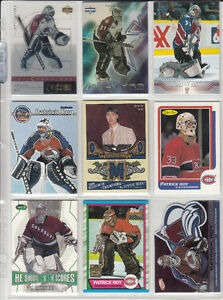 NHL hockey Patrick Roy 9 cartes (4 inserts dont 1 jersey)