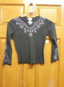 Black and Purple Beaded Shirt