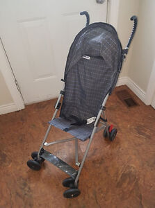 Avalon umbrella stroller. Sturdy and nice with canopy.
