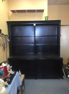Large Wood Retail Store Display Shelves Cabinet 2pc kitchen