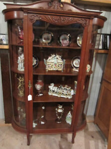 Antique ⁕ Display or China Cabinet curios cupboards