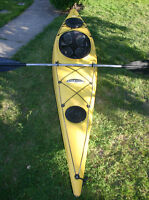 12' deluxe touring kayak & paddle