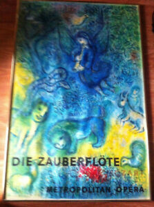 THE MAGIC FLUTE/MARC CHAGALL MOZART LITHOGRAPH PRINT/ RARE