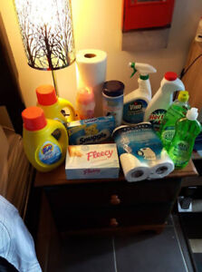 3 SEPARATE LOTS OF CLEANING SUPPLIES