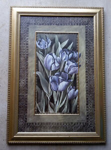 FRAMED PURPLE TULIP PRINT - ARTIST LINDA THOMPSON London Ontario image 1