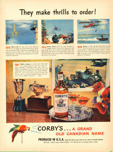 1947 full-page vintage magazine ad for Corby's Whiskey
