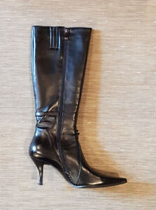 Ladies black zip-up boots from the Leather Ranch
