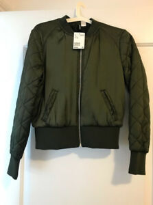 New Green Zip-Up Jacket Size 8 (38)
