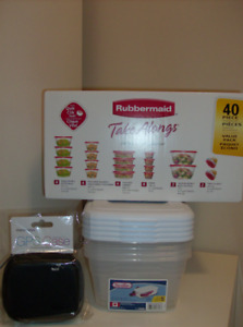 NEW Items - 40 Pc Rubbermaid Set, 5 Shoe or Craft Containers etc