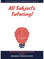 All subjects tutor in Burlington/Oakville Region ($18/hour)