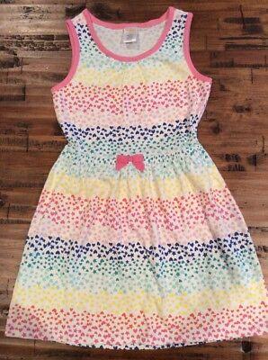 Gymboree Tropical Girls Knit Pink Green Striped Hearts Stars Dress Size 10 Nwt