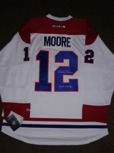 Dickie Moore Montreal Canadiens autographed jersey.