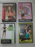 4 Exercise DVD's - Less than 1/2 Price - Like NEW