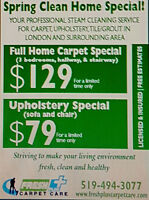 CARPET/UPHOLSTERY CLEANING-LONDON & AREA