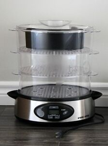 Digital Control Food Steamer, Stainless Steel